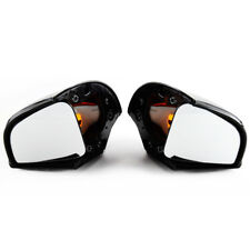 Pair Gloss Black Side Amber Turn Signal Rearview Mirrors For BMW R1100RT R1500RT