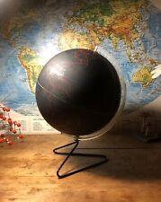 A VINTAGE WORLD TERRESTRIAL GLOBE BLACK BOARD CHALK  BOARD CIRCA 1965