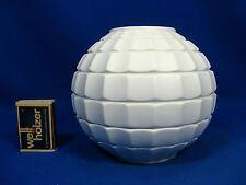 70´s Pop Art Werner Uhl design Scherzer relief porcelain ball vase 506 unglazed