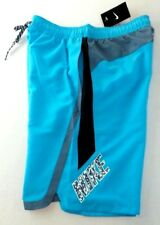 Nike Men's Swim Shorts Trunks Blue Medium Beacon Volley Sheds Water Colorblock