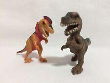 Jurassic Park Action Figures 2 Dino Hatchlings T-Rex Dilophosaurus Tan