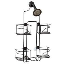 Home Shower Caddy Storage Bronze Hanging Shelf Bathroom Elegance Organizer Rack