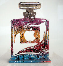 SPACO signed FIVE CHANEL 5 APPLE SCULPTURE graffiti pop STREET ART french iphone