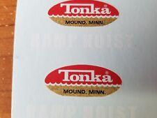 TONKA TRUCK  1963 & 1964 RAMP HOIST  DECAL SET
