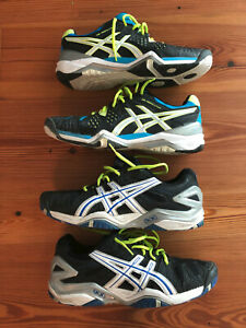 Lot of 2 pairs of Asics Gel Resolution Men's Tennis Shoes- size 11.5- EUC !!