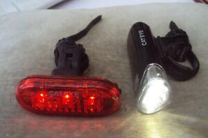 Cateye opticube el-135 3 led front bike light & cateye omni 3 led rear light
