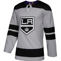 Adidas Los Angeles Kings Hockey Jersey Grey NHL Authentic Men's Size 46