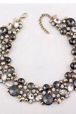 Zara Gold Statement Necklace Rhinestone Collar Bib