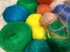 MOHAIR!!  22 ounces  Bulky Mohair Green/Yellow/Blue/Neutrals 1100 YPP Lot #2