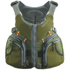 """Stohlquist KEEPER Fishing Life Vest Ultimate Angler PFD. LG 40-46"""" chest. GREEN"""