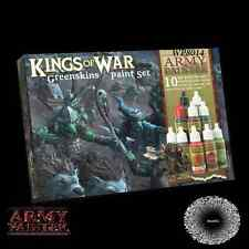 ARMY Painter Warpaints NUOVO CON SCATOLA Kings of War greenskins Vernice Set apwp8014