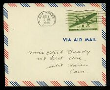 US Postal History Airmail Helicopter Autogiro Flight AAMC #72 New Haven CT 1946