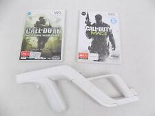 White Zapper Gun Rifle for Nintendo Wii 2x Games Call of Duty MW3 Modern Warfare