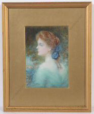 """Alyn Williams """"Portrait of a lady"""", large high quality miniature, 1909"""