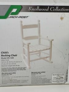 Jack Post KN-10W 1 pc. White Wood Frame Knollwood Kid's Rocking Chair