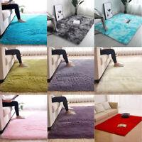 Fluffy Rugs Anti-Skid Shaggy Area Rug  Room Carpet Floor Mat Home Bedroom _shYB