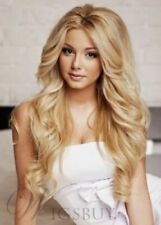 Blonde Youthful Fascinating Sexy Long Wavy Curly Wig Hair
