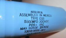 AEROVOX CGS CAPACITOR 5800 UF 300 VDC