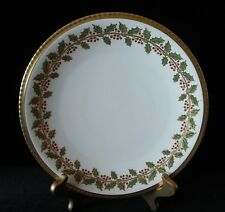 Blakeman & Henderson Limoges CHRISTMAS HOLLY PLATE Made in France