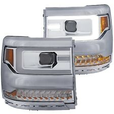 ANZO PROJECTOR CHROME HOUSING HEADLIGHTS FOR 16-17 CHEVY SLIVERADO 1500 111375