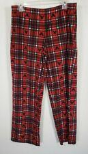 Disney Mickey Mouse Red Black Plaid Lounge Pajama Pants Large Unisex