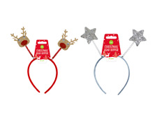 Head Bopper Christmas Headbands Novelty Fun Fancy Dress Party Reindeer Xmas