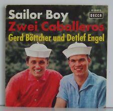 "7""  Gerd Böttcher Detlef Engel  Sailor Boy / Zwei Caballeros  Decca 1963"