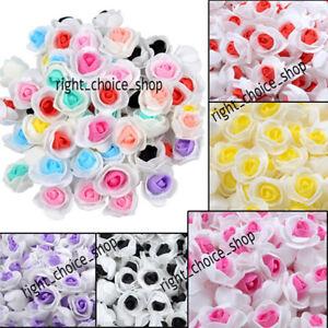 Dual Colour Mini Foam Roses Artificial Flower Head Party Wedding Home Decor 3cm