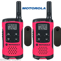 Motorola Talkabout T107 Walkie Talkie 2 Pack Set 16 Mile Two Way Radios Pink