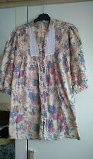 Women's size 18 top, multi coloured floral design from George, lace/pleat front
