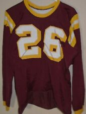 vintage 1960s  1970s  game used college football jersey size Large
