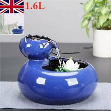 Blue Lotus Pet Drinking Water Fountain Dog Cat Electric Automatic Bowl Filter