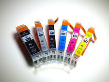 6 x compatible ink PGI-670 XL CLI-671XL GY set for Canon TS 9060 8060 6060 5060