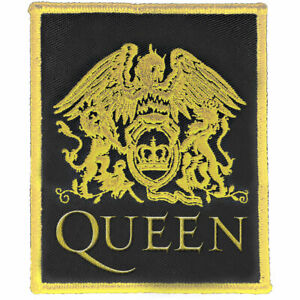 """QUEEN - """"CLASSIC LOGO""""  - SEW ON WOVEN PATCH - OFFICIAL"""