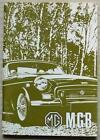 MG MGB TOURER & GT USA Car Owners Drivers Manual Handbook 1971 #AKD 7881