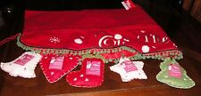Roman Better Homes and Gardens mantle/wall cover felt photo pockets Christmas