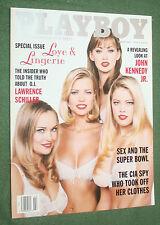 Playboy Feb 1997 Kimber West POM Love & Lingerie Lawrence Schiller interview