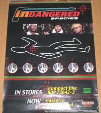 INDANGERED SPECIES orig Fanatic promotional poster, 1999, 18x24, VG hip-hop, rap