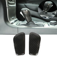 ABS Carbon Fiber Gear Lever Shift Knob Cover Trim For Jeep Grand Cherokee 16-19