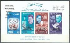 Qatar 1966 ** Bl.5a John F Kennedy JFK Nehru Hammarskjöld UNO