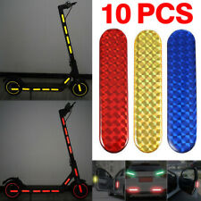 10x Reflective Stickers Strips Car Safety Warning Tape for Electric Scooter Bike