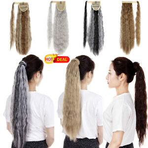 """24"""" Wrap Around Ponytail Hairpieces Daily Use Synthetic Clip in Hair Extensions"""
