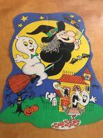 """Halloween Casper & Witch Die Cuts Vintage 29"""""""