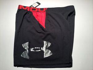 Under Armour HeatGear UA Vanish Woven Shorts Black Red Size 3XL - NWT $50!