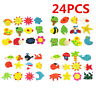 24 Fridge Magnet Wooden Cartoon Animals Novelty Magnets Colourful Children Kids