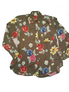 NEW OILILY Vintage Women's Floral Top Shirt Blouse Small Medium  Large