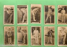 #D111. TEN 1928 - 1929  WILLS  CRICKET CIGARETTE CARDS