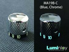 Luminlay Knob MA19B-C (glow blue, Chrome, 0-10) for Jackson, Ibanez, Schecter