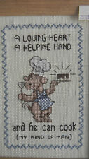 Completed Three Needles Cross Stitch MY KIND OF MAN Dog - JCA New 6 x 8 Framed