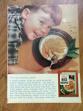1955 Kellogg's Rice Krispies Ad I'm not missing a word